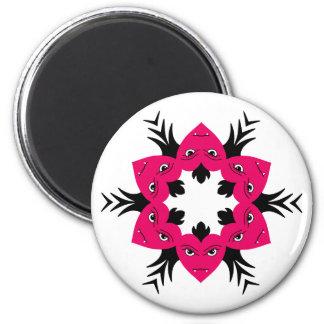 Vampire hearts wreath design magnet