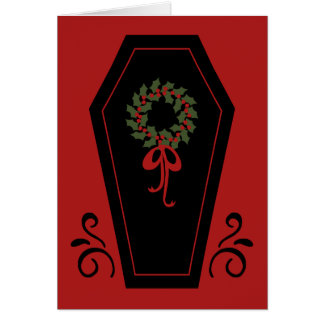 Vampire Holiday Coffin Greeting Card