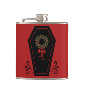 Vampire Holiday Coffin Hip Flasks