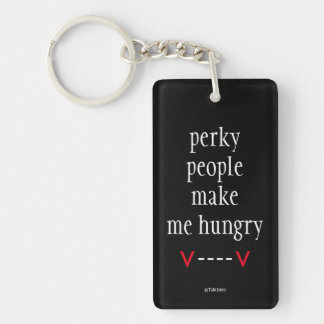Vampire Humor Funny Goth Keychain