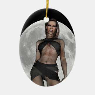 Vampire Huntress Ceramic Ornament