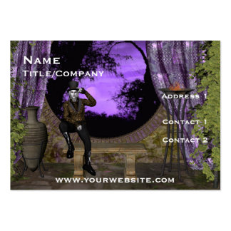Vampire in Round Window on Stage Profile Card Large Business Cards (Pack Of 100)