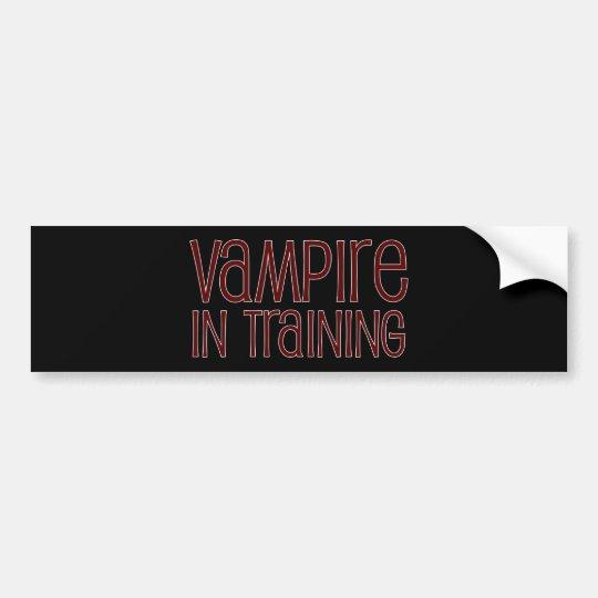 Vampire In Training Bumper Sticker