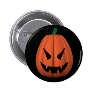Vampire Jack O Lantern Button