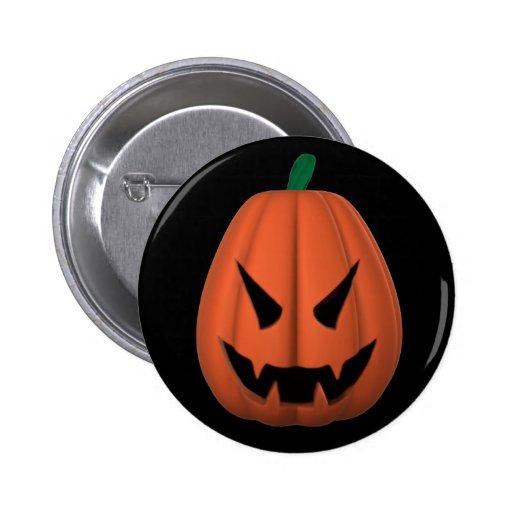 Vampire Jack O'Lantern Button