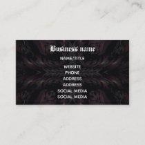 Vampire kaleidoscope Gothic Business Card
