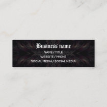 Vampire kaleidoscope Gothic medieval Mini Business Card