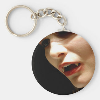 Vampire Basic Round Button Keychain