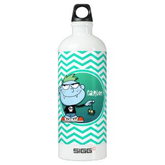 Vampire Kid; Aqua Green Chevron SIGG Traveler 1.0L Water Bottle