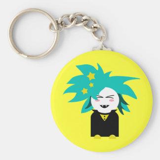 Vampire Kid Basic Round Button Keychain