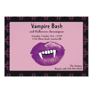Vampire Kiss Halloween Party Invitation