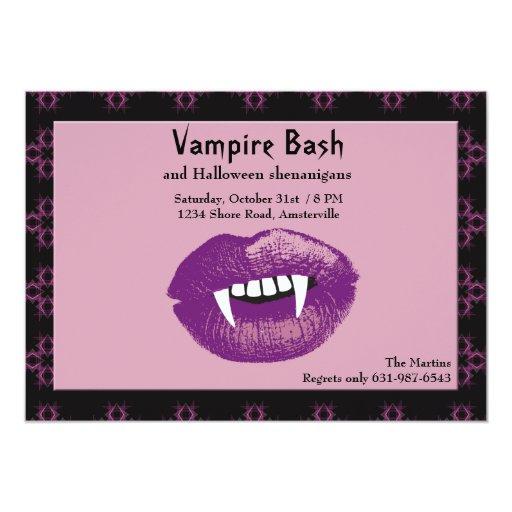 Vampire Kiss Halloween Party Invitation