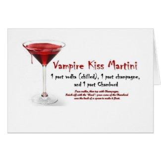Vampire Kiss Martini Drink Recipe card