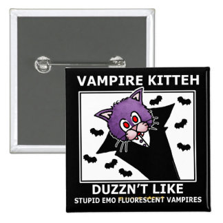 VAMPIRE KITTEH... 2 INCH SQUARE BUTTON