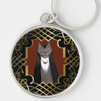 Vampire Kitty Portrait Keychain