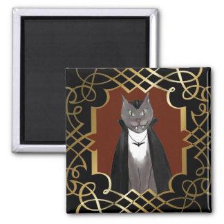 Vampire Kitty Portrait Magnet