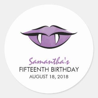 Vampire Lips Goth Birthday Sticker