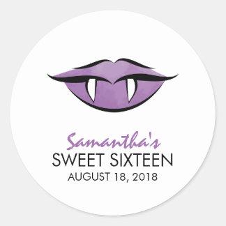 Vampire Lips Goth Sweet Sixteen Birthday Sticker