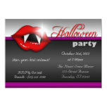 Vampire Lips Halloween Party Invitations