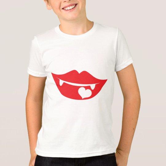 vampire lips love heart T-Shirt
