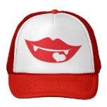 vampire lips love heart trucker hats