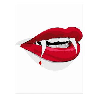 vampire lips postcard