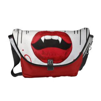 Vampire Lips Rickshaw Messenger Bag