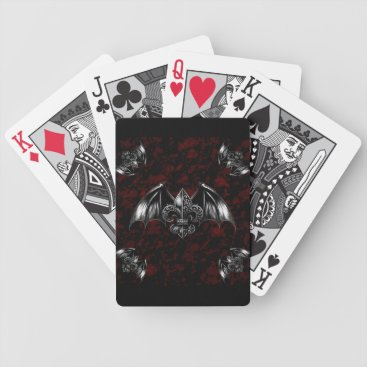 Halloween Themed Vampire Lord Gothic Art Bicycle Playing Cards