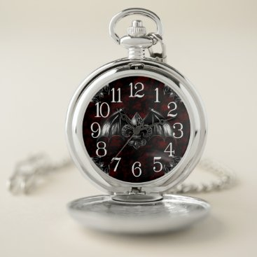 Halloween Themed Vampire Lord Gothic Art  Pocket Watch