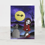 Vampire Lost Love Blank customizable headstone Holiday Card