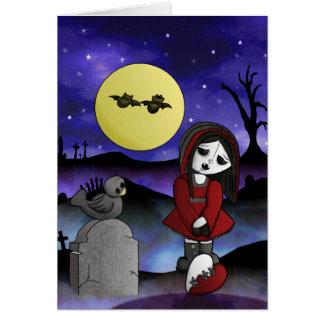 Vampire Lost Love Greeting Card Blank headstone