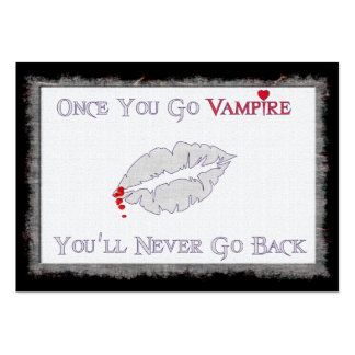 Vampire Love Large Business Card