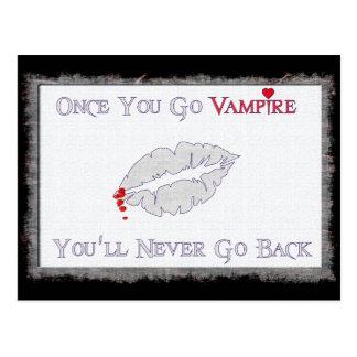 Vampire Love Postcard
