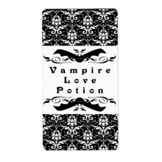 Vampire Love Potion Halloween Labels