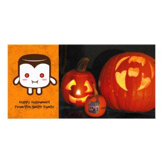 Vampire marshmallow photo greeting card