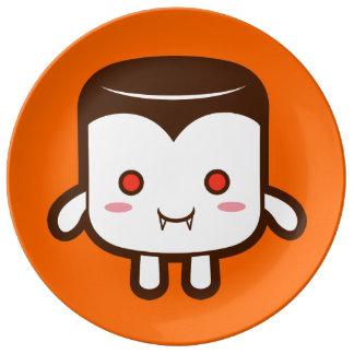 Vampire marshmallow porcelain plate