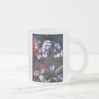 Vampire Metal Girls Frosted Glass Coffee Mug