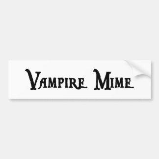 Vampire Mime Bumper Sticker