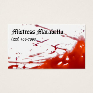 Vampire Mistress Bloody Business Card