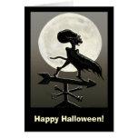 Vampire Moon Halloween Card