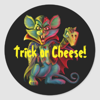 Vampire Mouse Trick or Treat Sticker