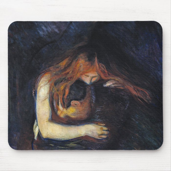 Vampire Mousepad!  Vintage Art by Edvard Munch Mouse Pad
