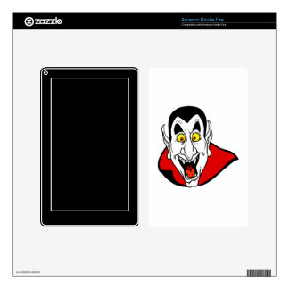 Vampire mouth open head cape kindle fire skins