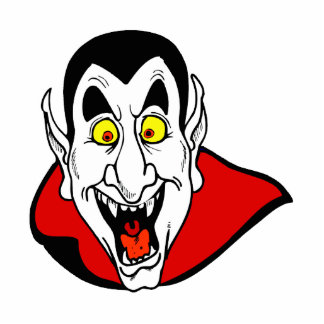 Vampire mouth open head cape photo cut outs