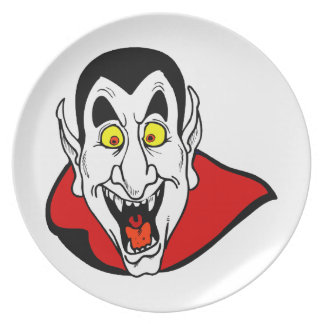 Vampire mouth open head cape plate