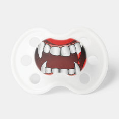 Vampire Mouth With Drop Of Blood Pacifier at Zazzle