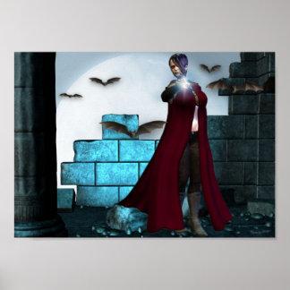 Vampire Night Magic Poster
