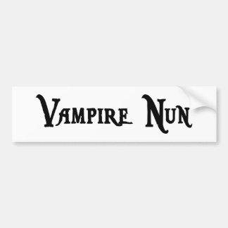 Vampire Nun Bumper Sticker
