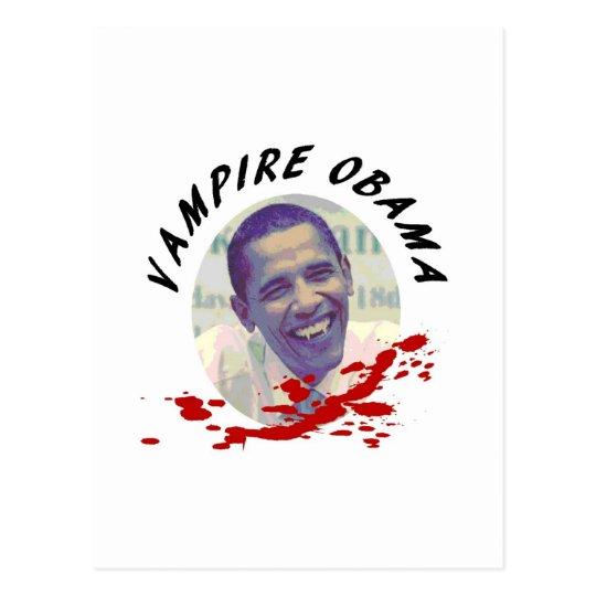 Vampire Obama with Blood Splatter Postcard