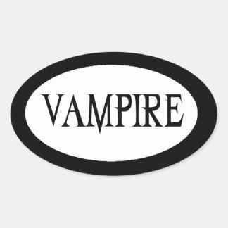 Vampire Oval Sticker